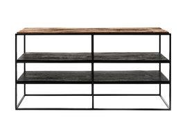 Rustika TV-meubel rustiek boothout & zwart.