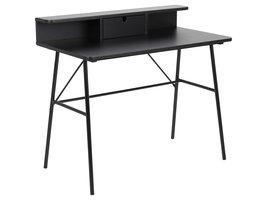 Pascal bureau met 1 lade, zwart.