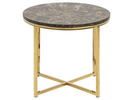 Alisma salontafel hoektafel Ø50 cm, bruin.