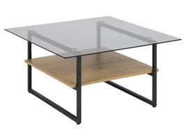 Okaya salontafel met 1 plank, rook.