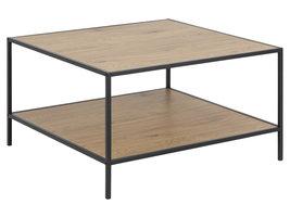 Sea salontafel met 1 plank, eik.