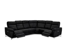 Selesta  hoekbank VSS-recliner, zwart.