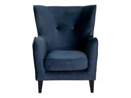 Campo fauteuil velours, donkerblauw.