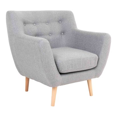 Monte fauteuil grijs.