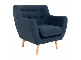 Monte fauteuil donkerblauw.