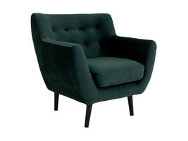 Monte fauteuil velours, groen.
