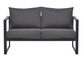 Iris loungeset 2-delig incl. kussens, zwart, gesorteerd.