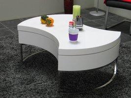 <UITV>Design salontafel Turnaround wit hoogglans