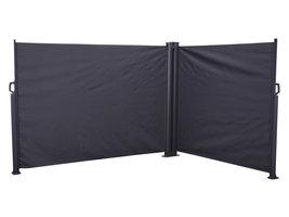 Kim windscherm dubbel 6 x 1,6 m zwart.
