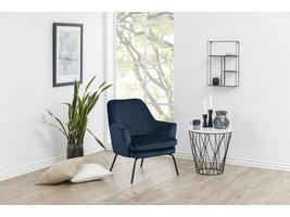 Chisa fauteuil , loungestoel blauw.