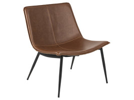 Sherri fauteuil Chaise longue PU-kunstleder bruin.