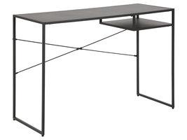 Nest bureau 1 plank zwart.