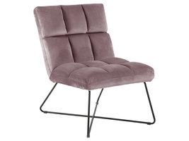 Alice fauteuil , velours roze.