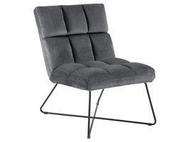 Alba fauteuil , ligstoel velours grijs.