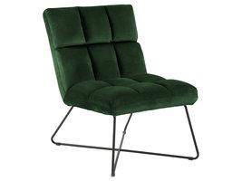 Alba fauteuil , ligstoel velours groen.
