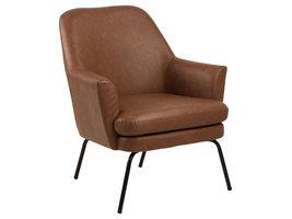 Chisa fauteuil , ligstoel PU-imitatieleer bruin.