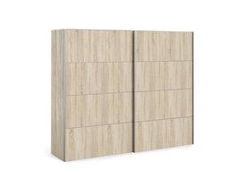Veto Schuifdeurkast 2 deuren breed 243 cm eiken decor.