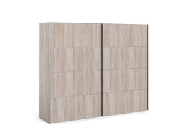 Veto Schuifdeurkast 2 deuren breed 243 cm truffeldecor.