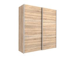 Veto Schuifdeurkast 2 deuren breed 183 cm eiken decor, wit.