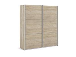 Veto Schuifdeurkast 2 deuren breed 183 cm eiken decor.