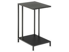 Newcastle salontafel laptoptafel met 1 plank zwart.