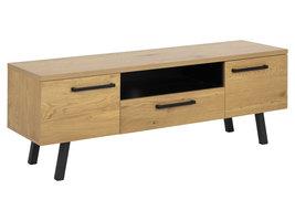 Mallow TV-meubel 2 deuren, 1 lade en 1 vak eik, zwart.