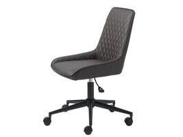 Milton kantoorstoel PU-imitatieleer bruin.