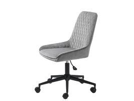 Milton kantoorstoel velours grijs.