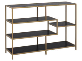 Sea boekenkast met 3 legplanken zwart.