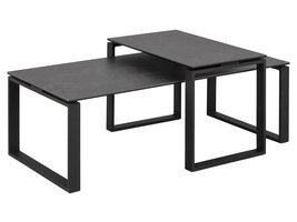 Kamma  salontafel set zwart.