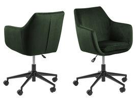 Nora kantoorstoel velours groen.