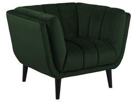 Tampa fauteuil velours groen.