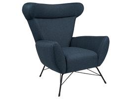 Wina fauteuil met zwart frame.