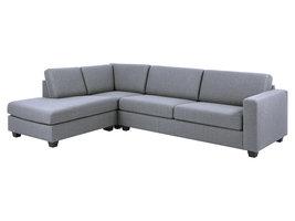 Wyor hoekbank met chaise longue en zwarte poten.