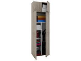 Vandol II Universele kast, schoonmaakkast met wandkast 4 deuren Sonoma eiken decor.