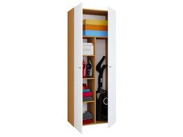 Vandol IIkombi Universele kast, schoonmaakkast 2 deuren Beuken decor,wit.