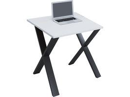 Lona Bureau 80x80 cm X-frame wit/zwart.