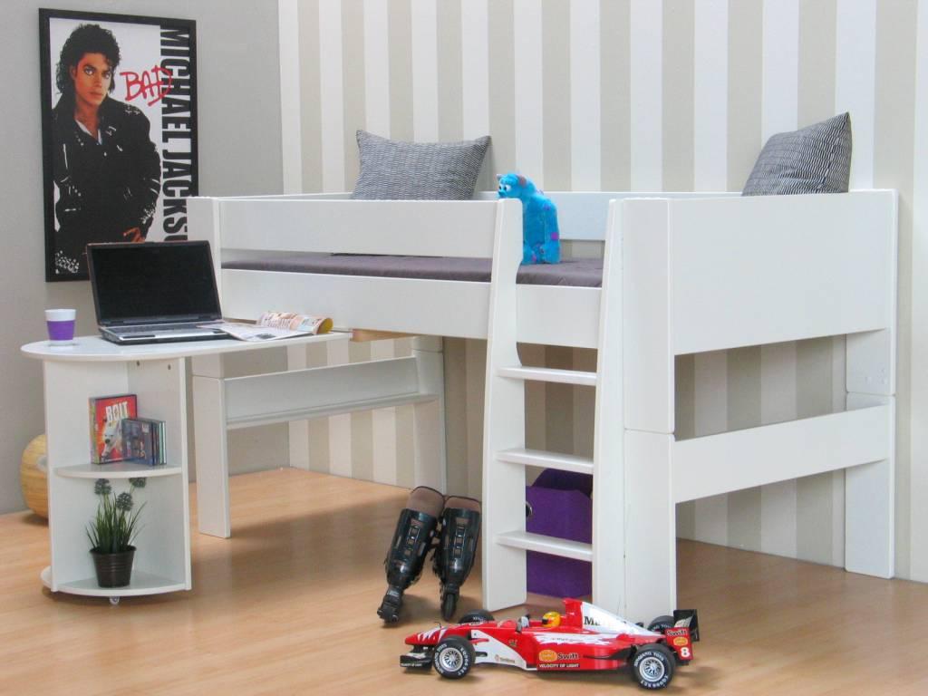 Halfhoogslaper En Bureau.Halfhoogslaper Bed Met Bureau Molly Kids