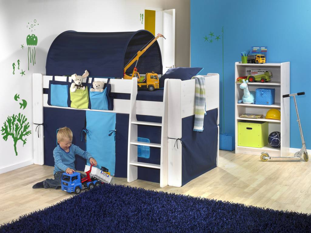 Kinderkamer Met Hoogslaper.Halfhoogslaper Wit Molly Kids Bed Kinderkamer