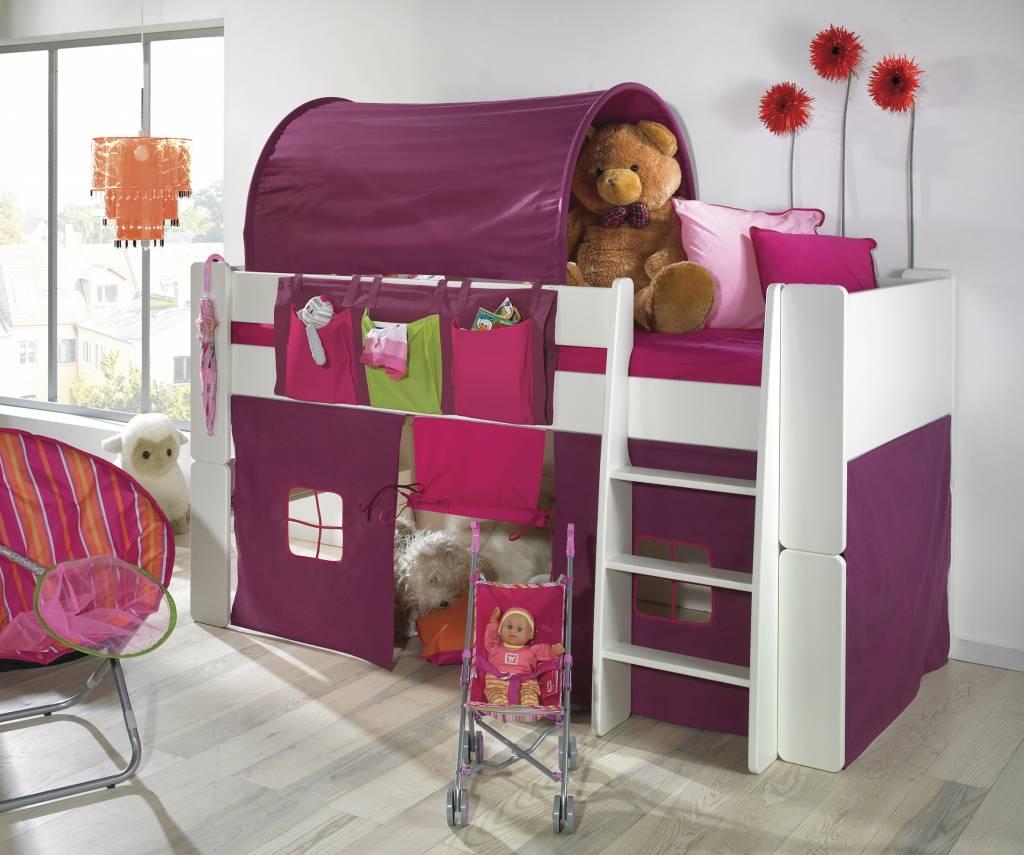 Bed Voor Kinderkamer.Halfhoogslaper Wit Molly Kids Bed Kinderkamer
