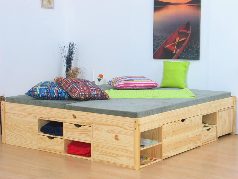Bed 140x200 Compleet.Tweepersoonsbed Grenen Zeer Compleet 140 X 200