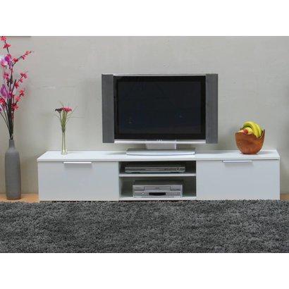 Tvilum TV meubel Bergamo wit hoogglans met 2 laden en open vakken
