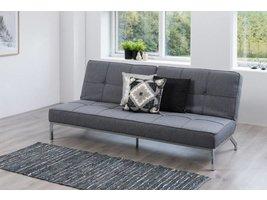 Slaapbank Per grijs stof 198x89x95 cm