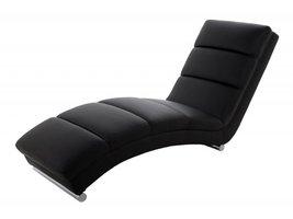 Relaxstoel design ligstoel Sanne zwart kunstleder