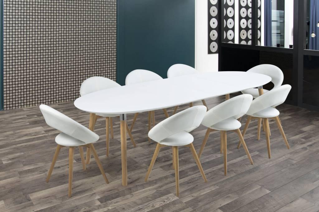 Eettafel Modern Wit.Belize Eettafel Wit Hout