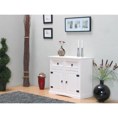 New Mexico wit dressoir met 2 deuren en 2 laden 91,5cm breed