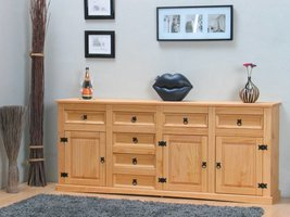 Dressoir New Mexico met 7 laden en 3 deurtjes