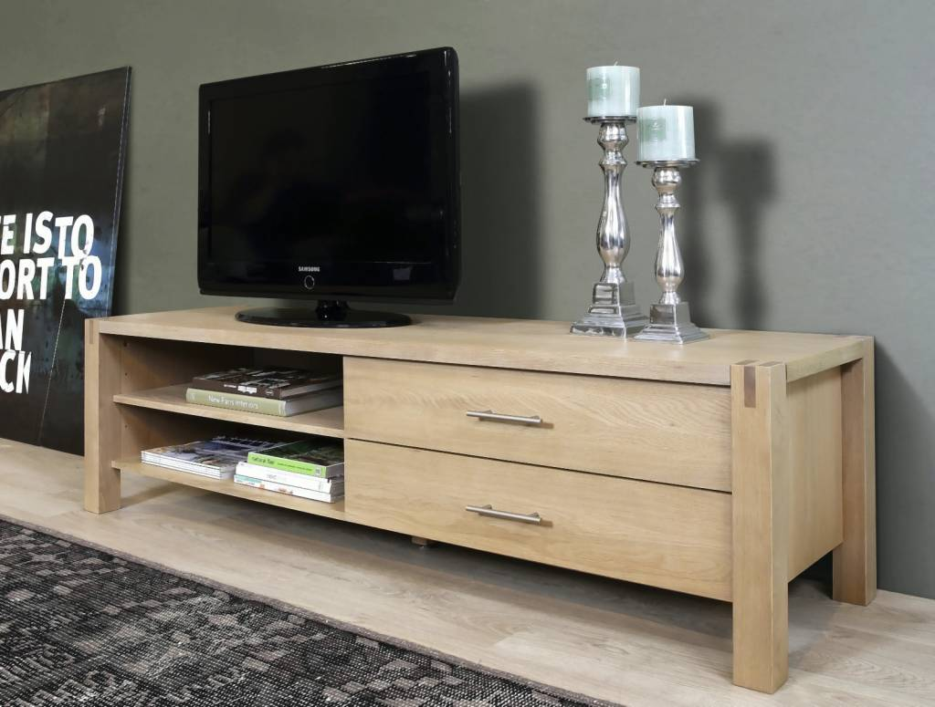 Sidetable Eiken White Wash.Fyn Corso Tv Meubel Eiken White Wash