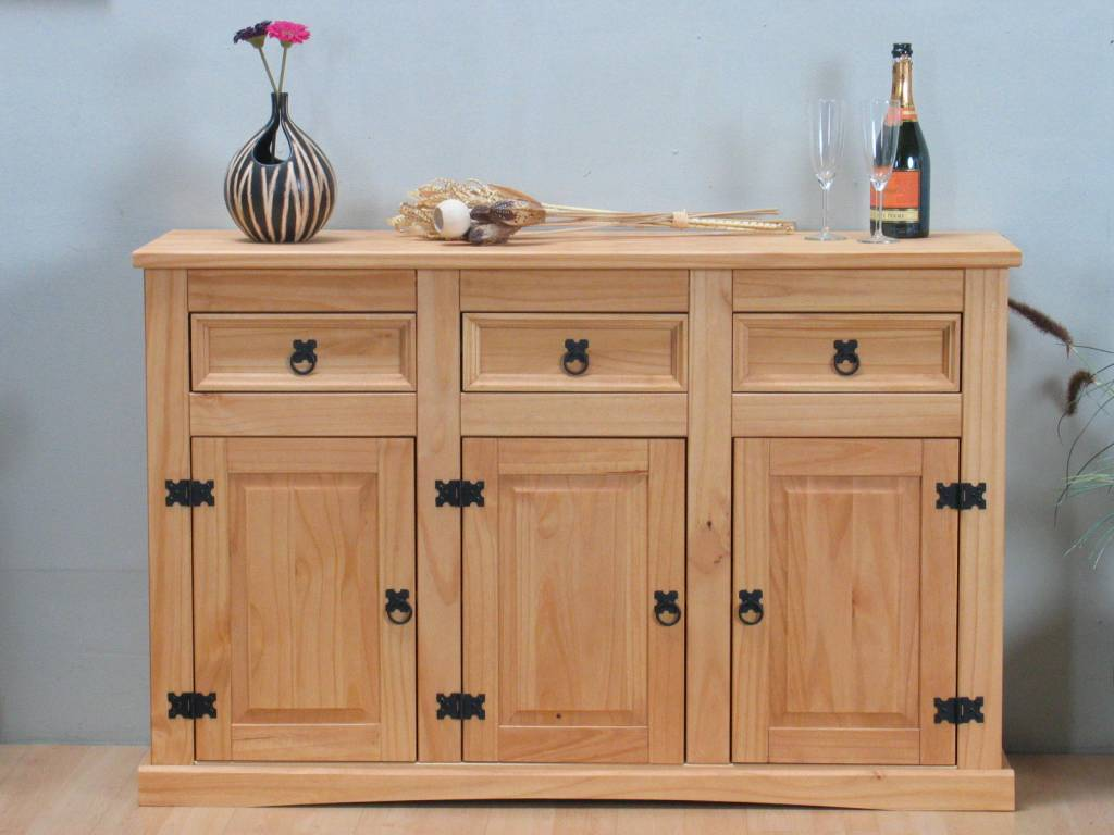 Mexicaanse Grenen Tv Kast.Dressoir New Mexico 132cm
