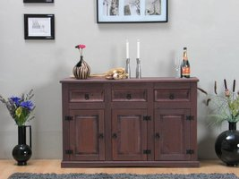 Bruin dressoir New Mexico koloniaal 132cm